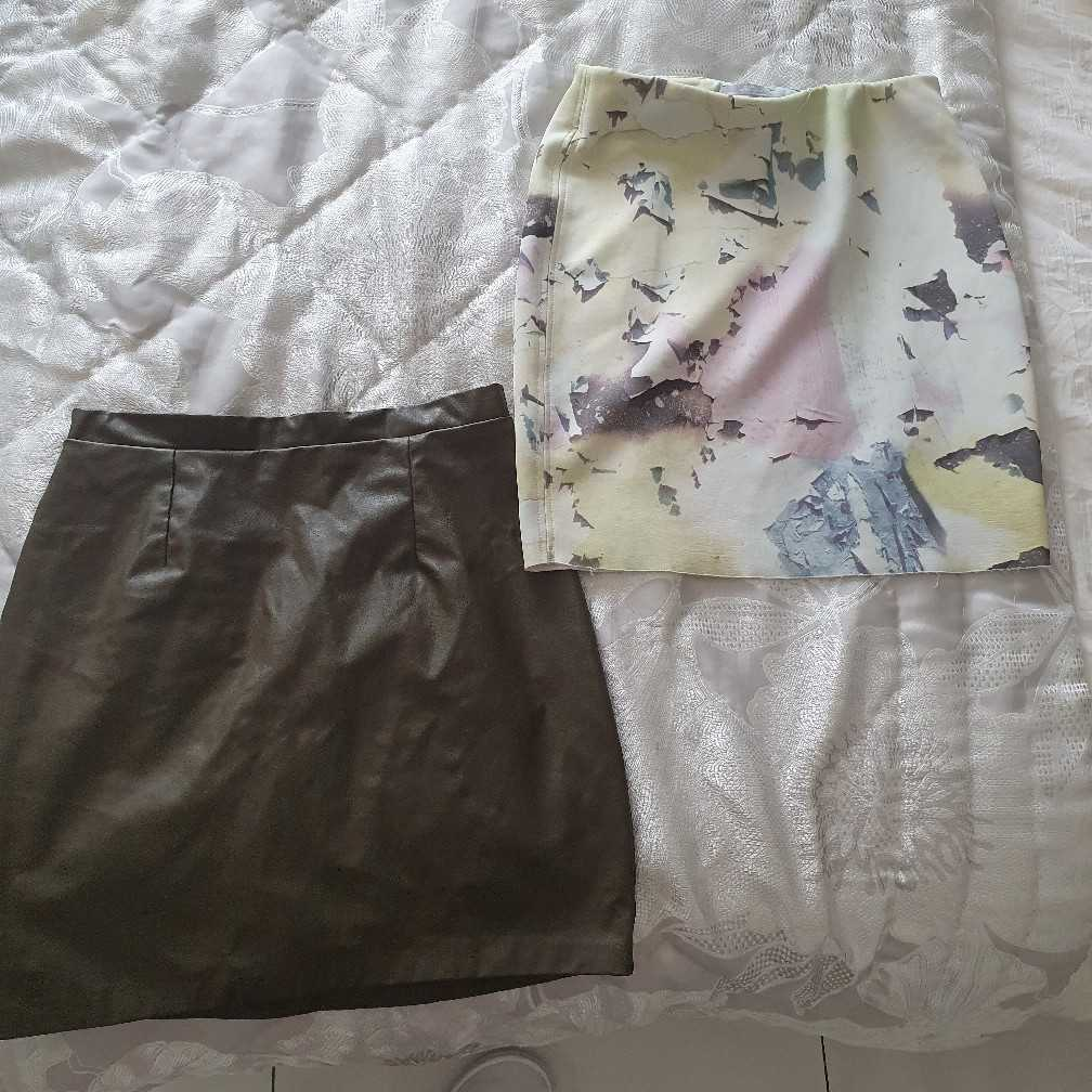 Two River island/Zara UK8 skirts