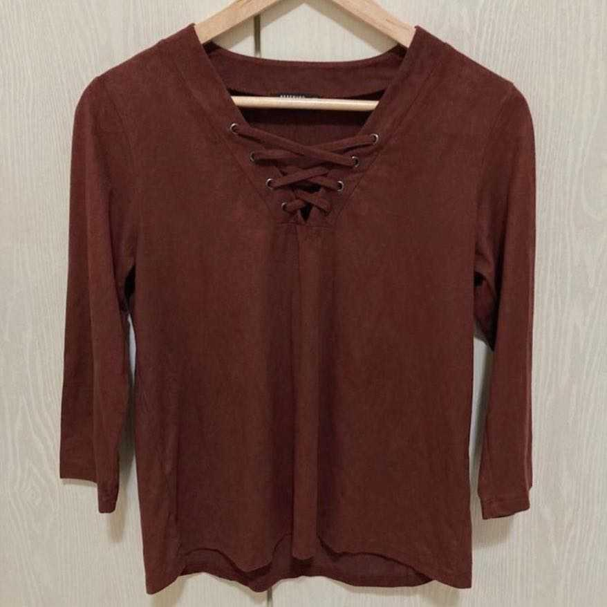 BRAND - RESERVED , Size - M, Suede feel top