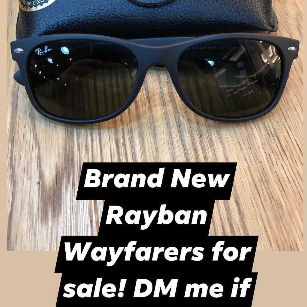 Brand New Rayban Wayfarers Matte Black!