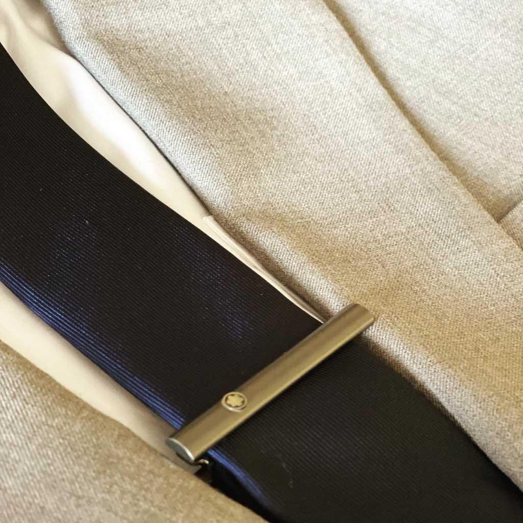 Authentic Montblanc logo tie bar steel