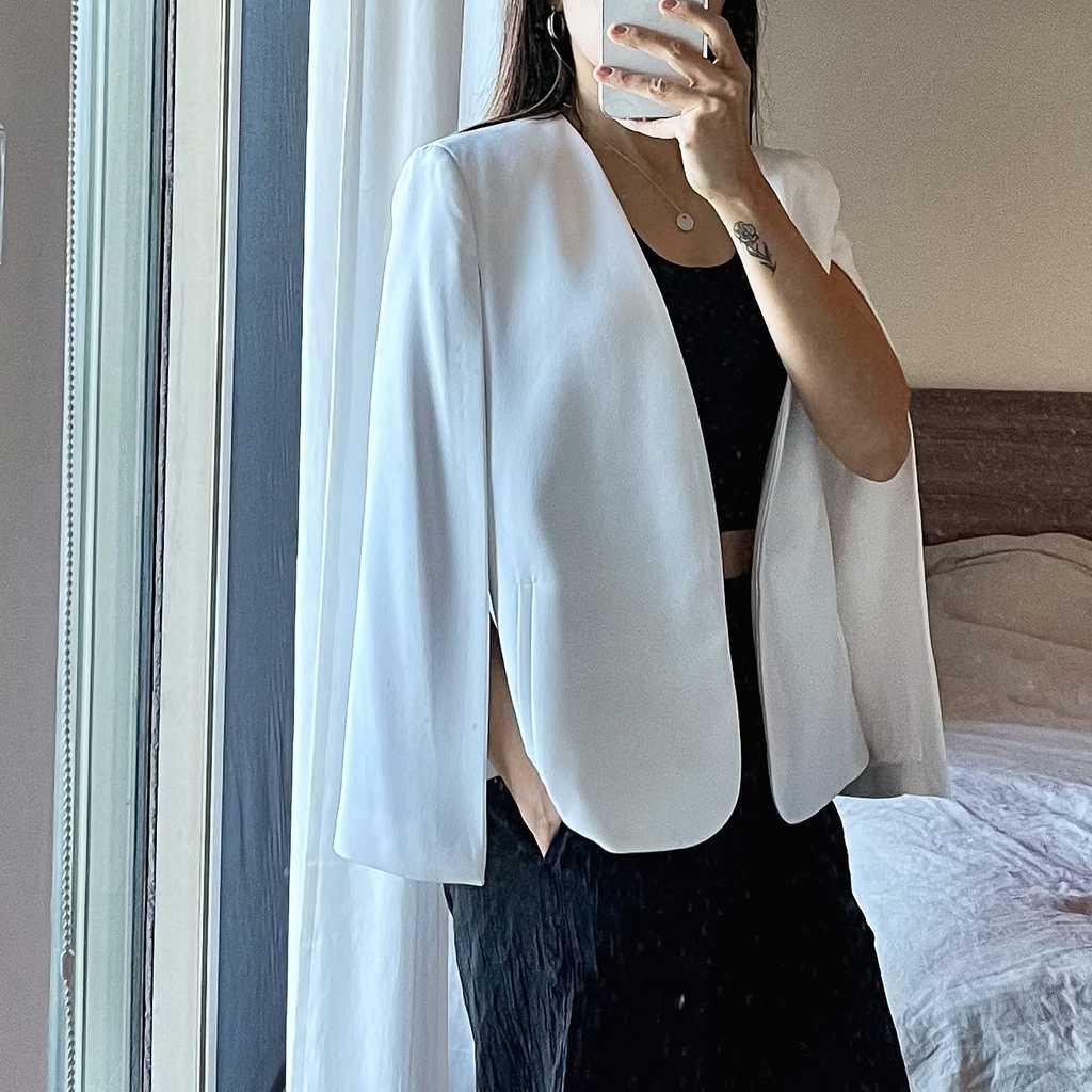 Zara cloak cape blazer