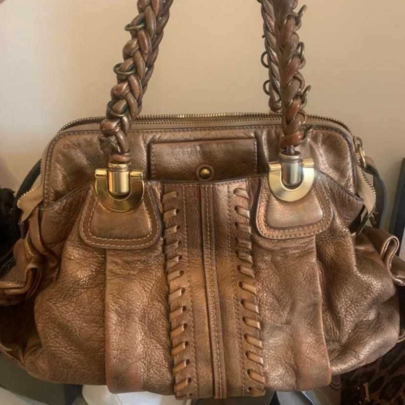 Chloe Bronze Metallic Bag