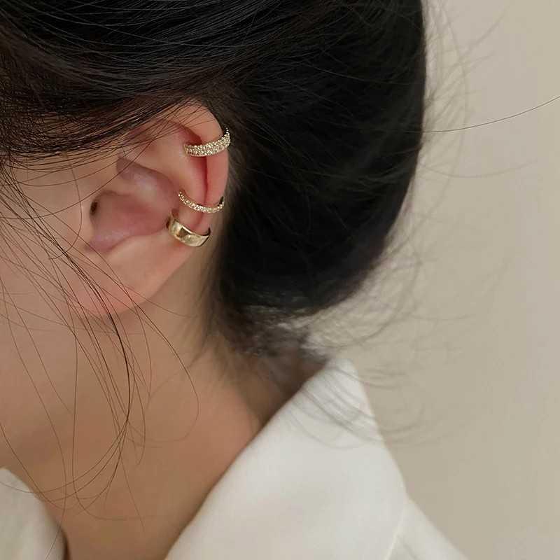 NEW gold clips earrings 3 pcs zircon foe ear bone fake