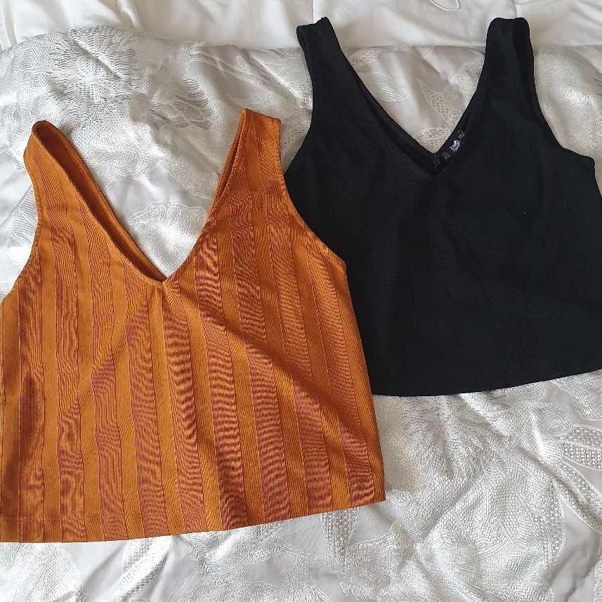 Two Zara crop tops