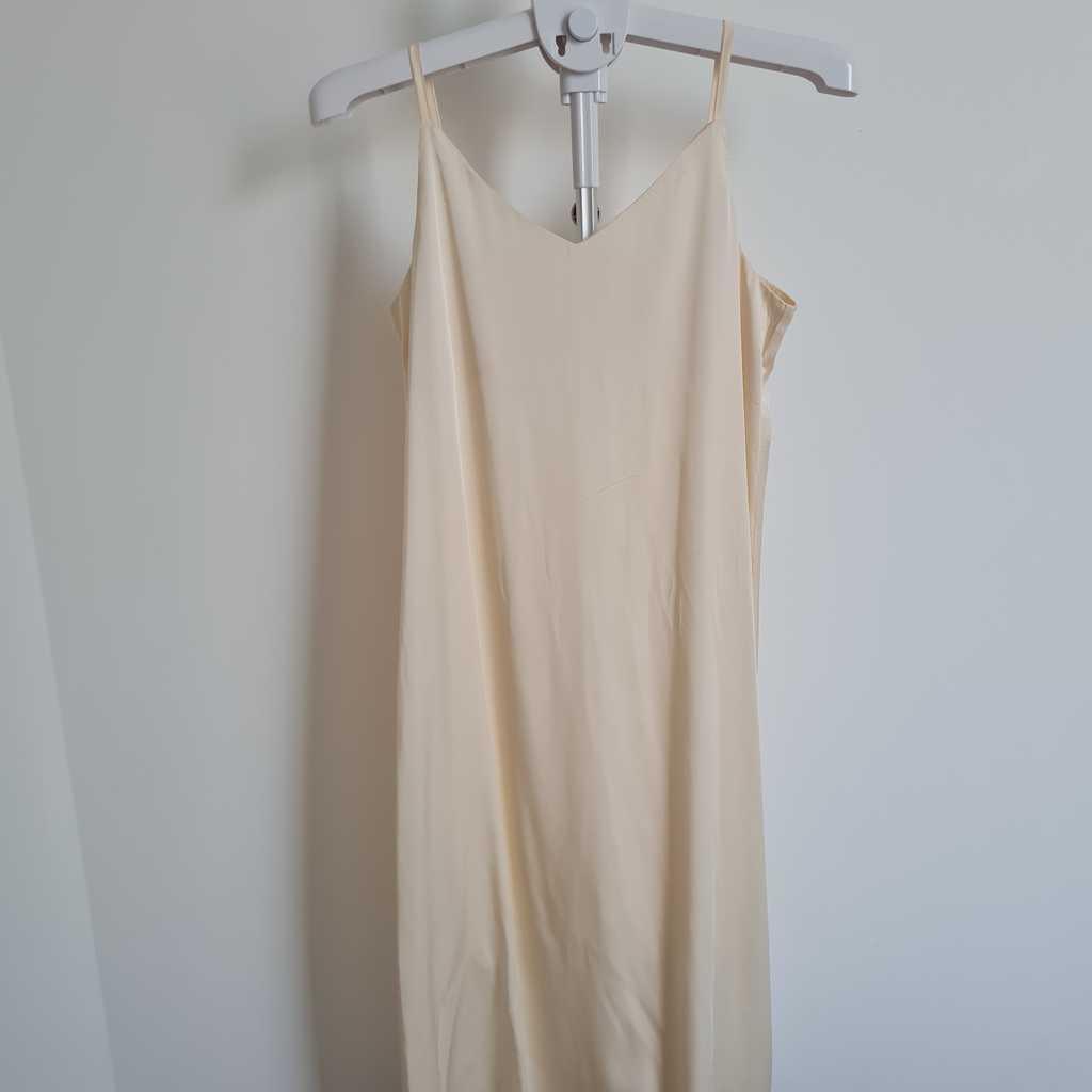 Ivory colored slip dress