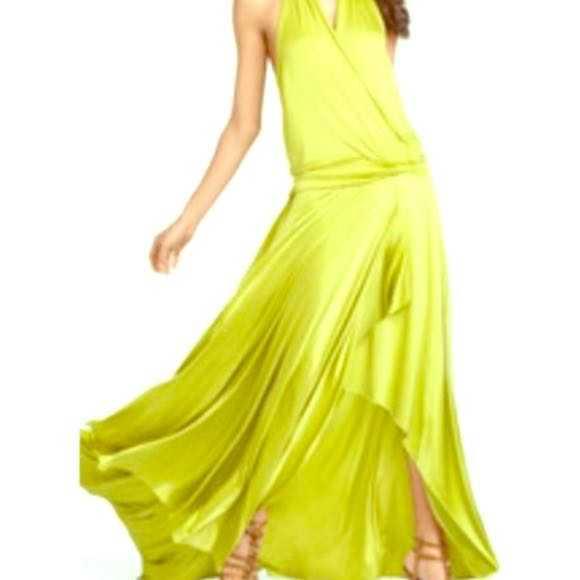 BCBG Maxazria Lemongrass Halter Gown