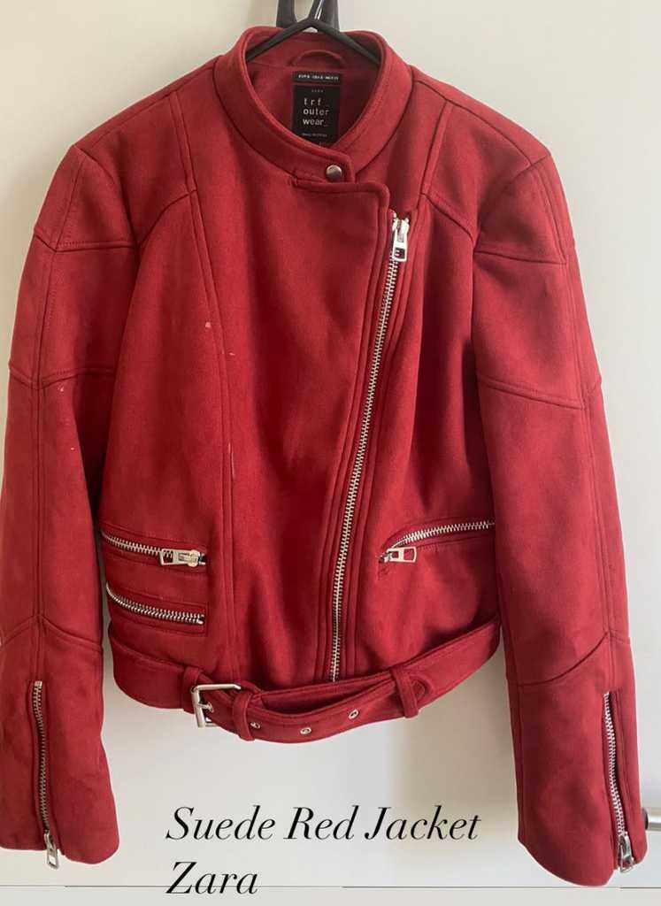 Zara Red Suede Jacket