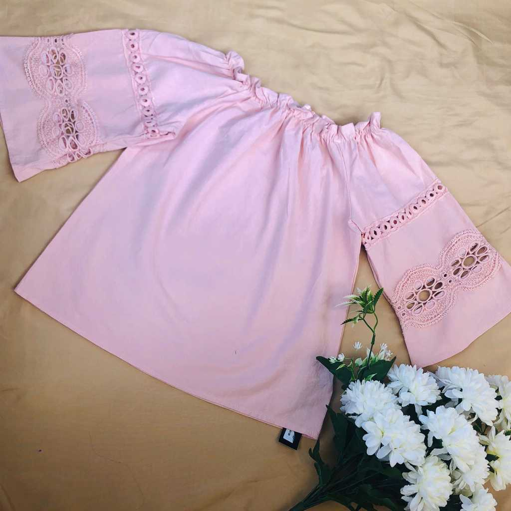 Peach bell sleeves (Free size)