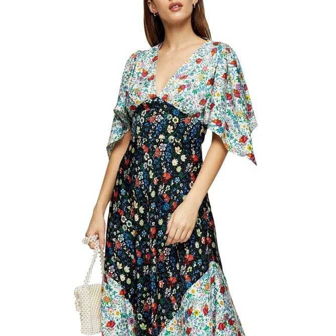Topshop multi-floral dress