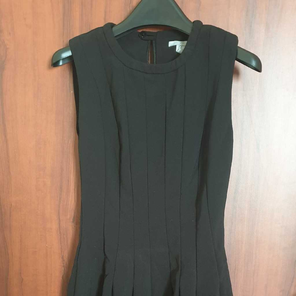 Sleeveless Fit and Flare Dress in Black