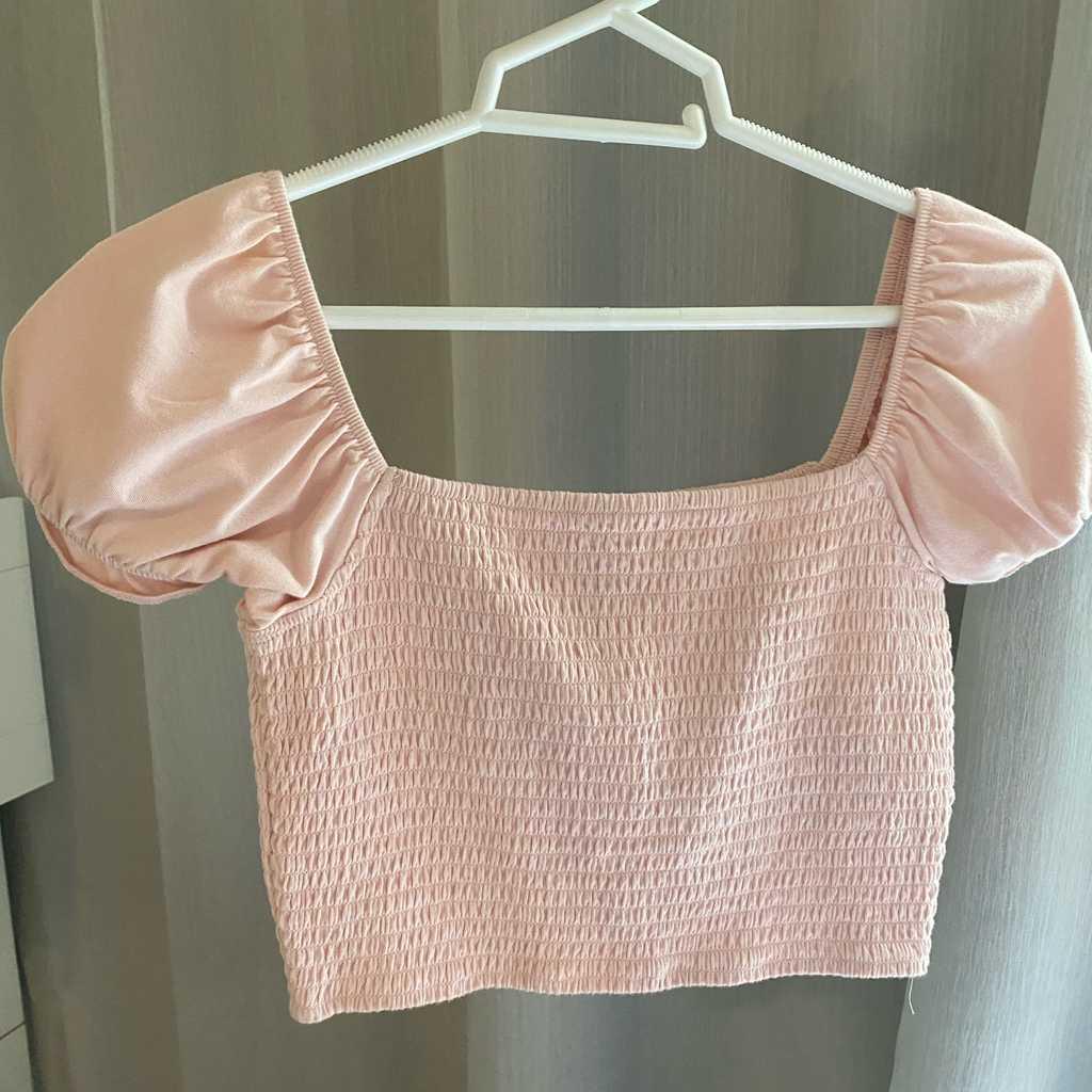 Pink shoulder top